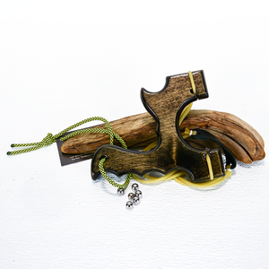 Image of Birchwood Sling Shot, The Menace, Black Stained Catapult for left or right handed shooters