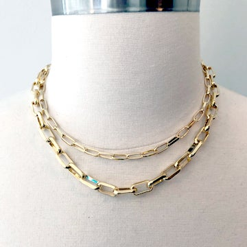 Image of Link Chain Necklaces-Two Sizes