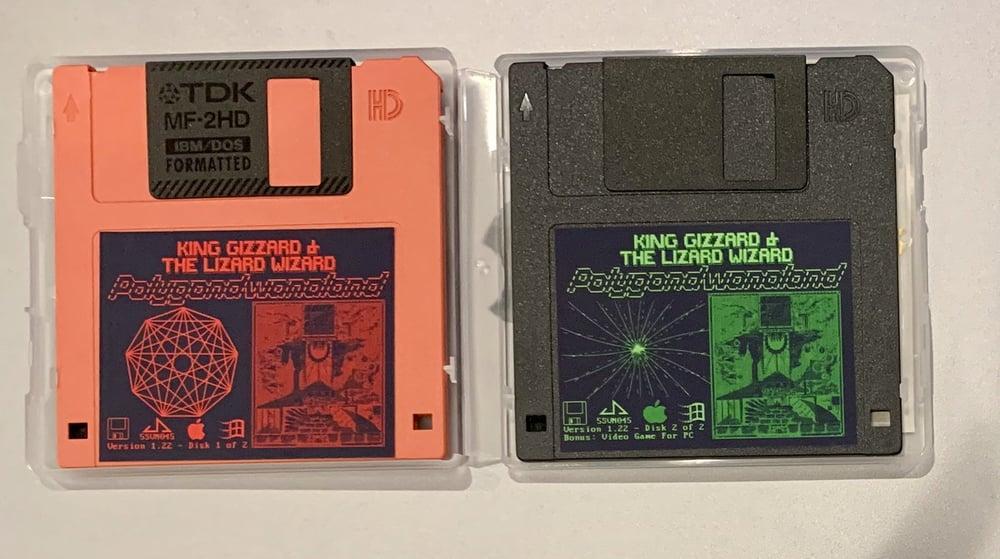 Image of Polygondwanaland Album + Video Game on 2 Floppy Disks