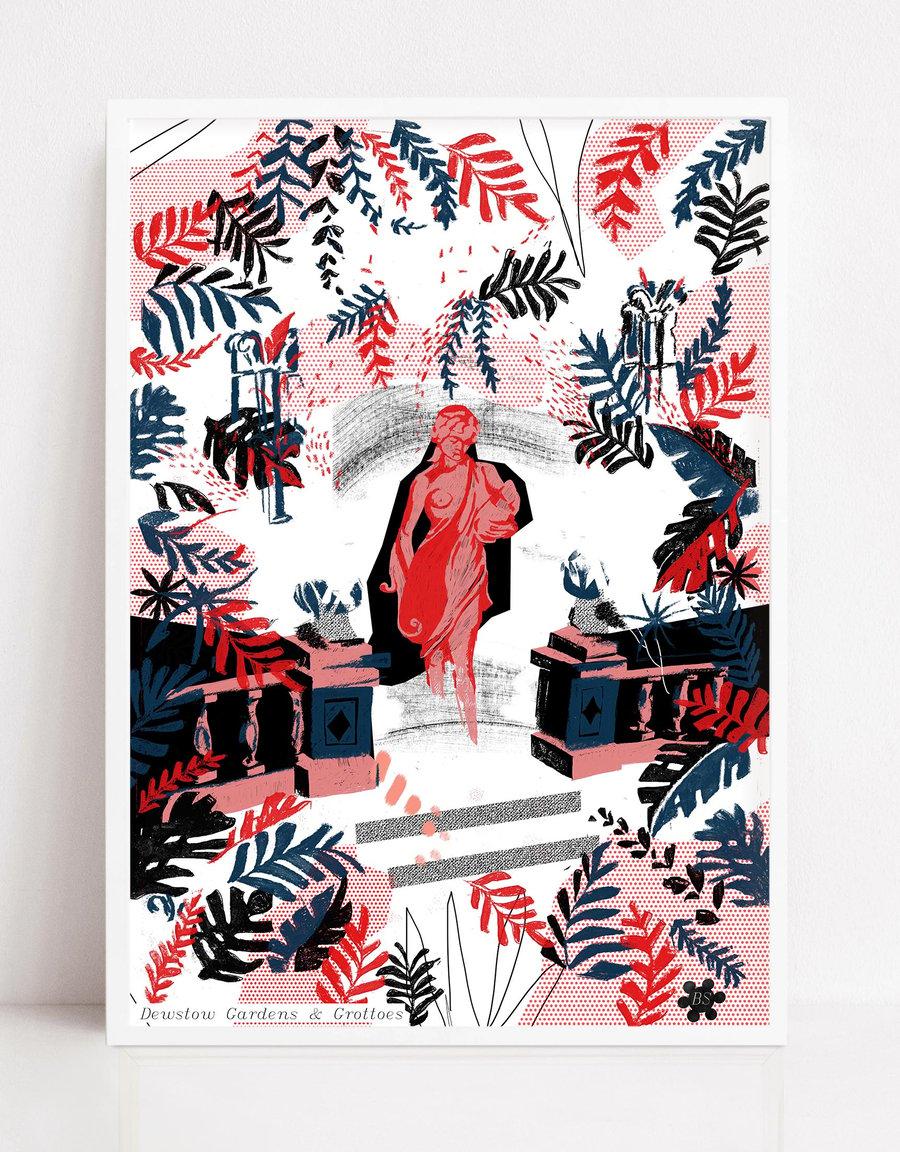 Image of Dewstow Gardens Print