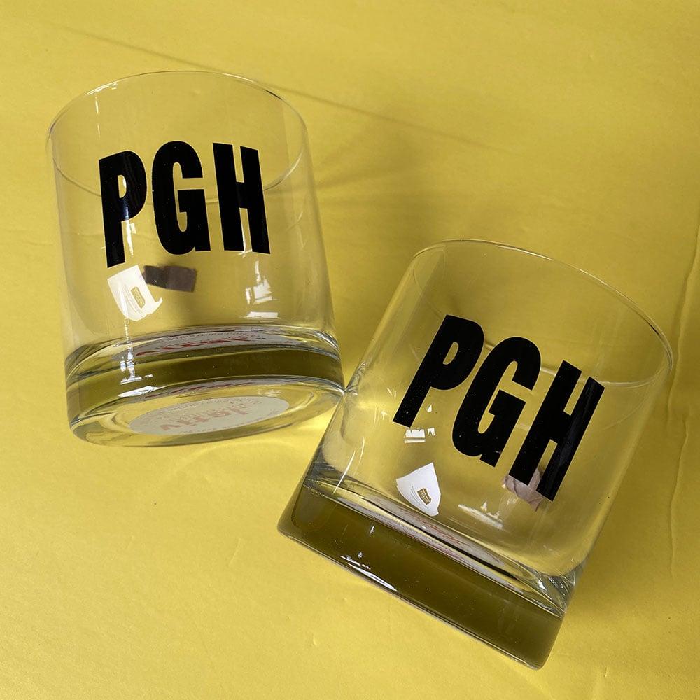 Image of Set of 2 Pittsburgh Rocks Glasses