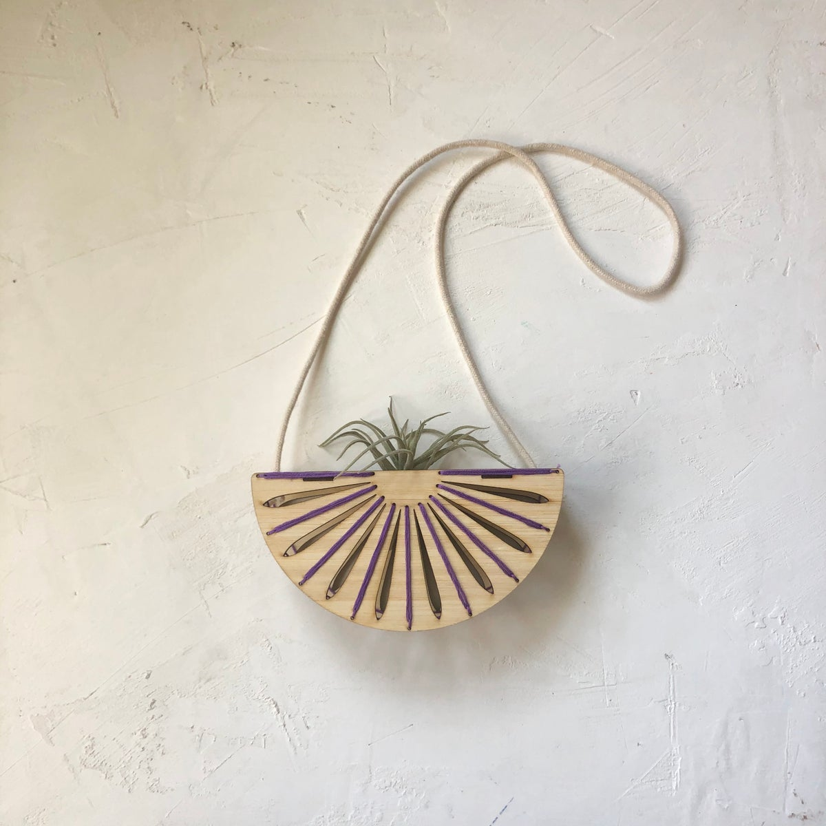 Purple Sunray Hanging Airplant Holder