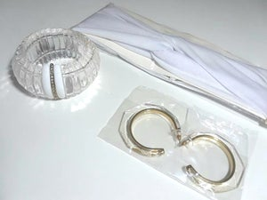 Image of Summer White Lucite Accessories Set