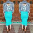 Mint Tube Top Dress