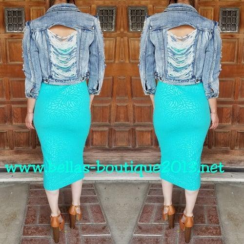 Image of Mint Tube Top Dress