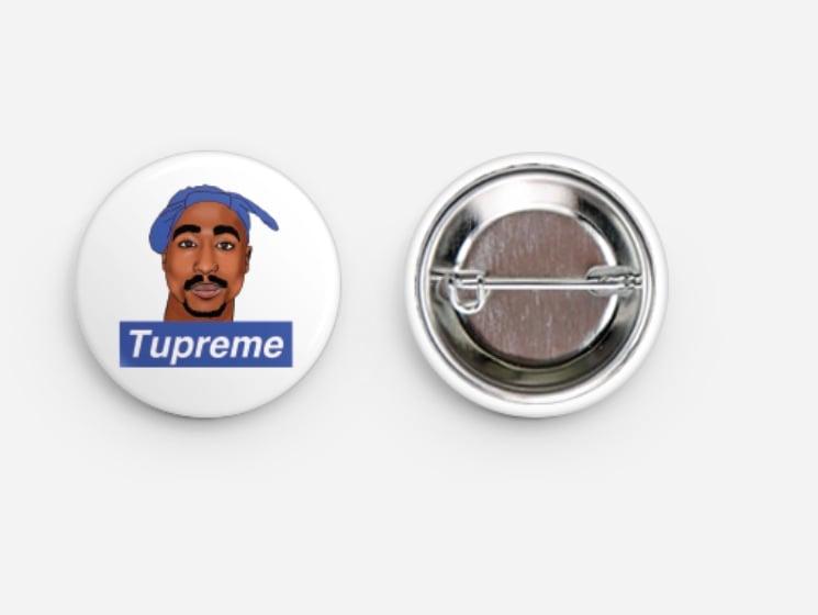 Image of Tupreme button (Blue)