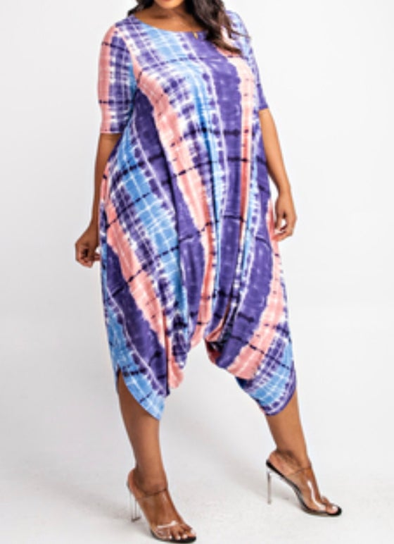 Image of Plus Tie-Dye Jumpsuit