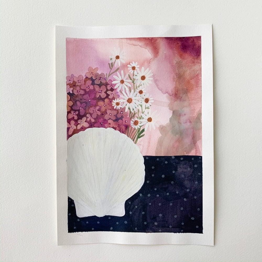 Image of Scallops + Hydrangeas
