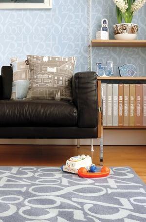 Image of Knock Knock Wallpaper - Powder Paint Blue