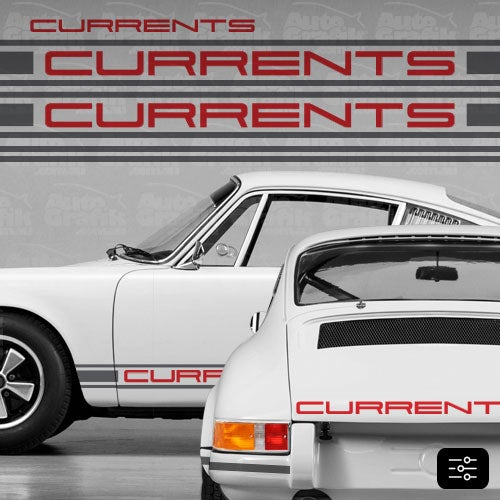 Image of CURRENT-S TYPE COMPLETE DECAL KIT - TWO TONE - YOUR CUSTOM TEXT