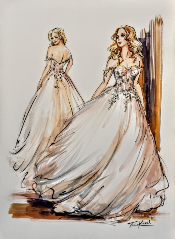 Image of Custom Watercolor Fashion Sketchs