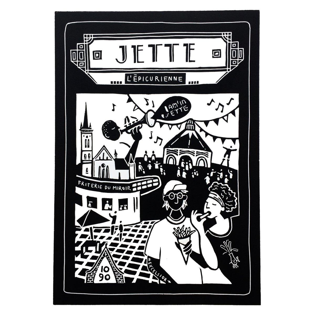 Linogravure Jette