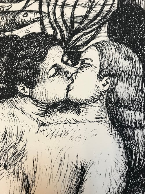 Image of Kiss print Anne van der Linden
