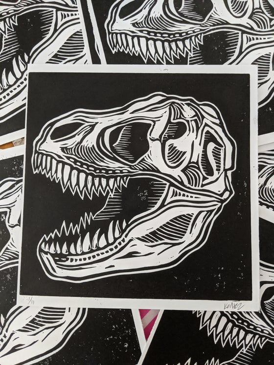 Image of TRex - Relief Print