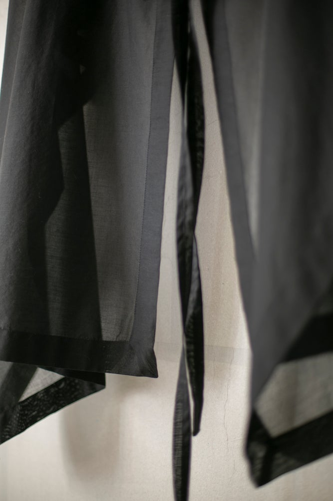 Image of SCARF#20 - BLACK COTTON VOILE by Jan-Jan Van Essche