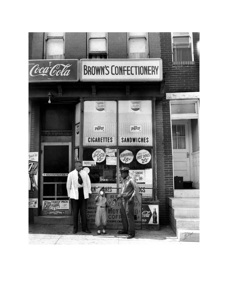 Image of *new* Brown's Confectionery by I. Henry Phillips Sr. (1920-1993)