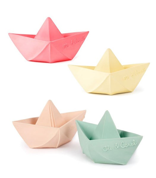 Image of OLI&CAROL Origami Boat teething and bath toy