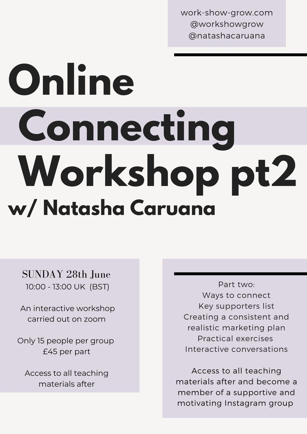 Image of June 2020 - Connecting Pt2 Online Workshop