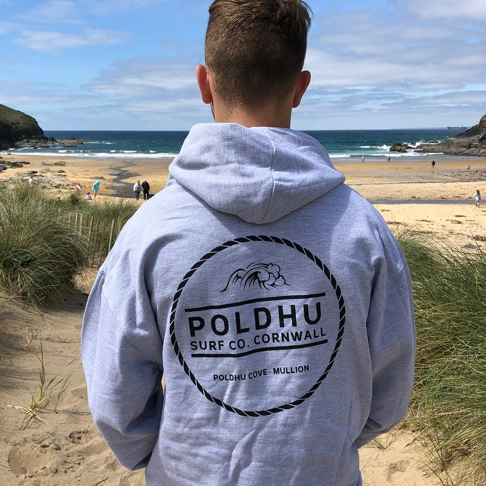 Poldhu Surf Co. Hoodie - HEATHER GREY