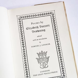 Elizabeth Barrett Browning - Selected Poems edited by Samuel J Looker