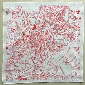 Image of Harrogate Hankie vintage map handkerchief