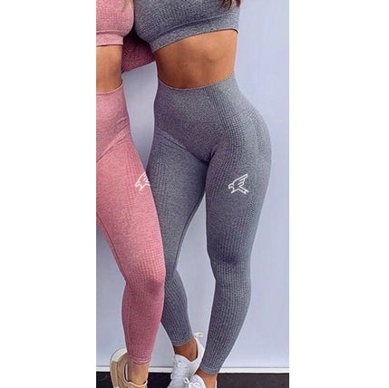 Image of Grey Seamless High Waisted Leggings