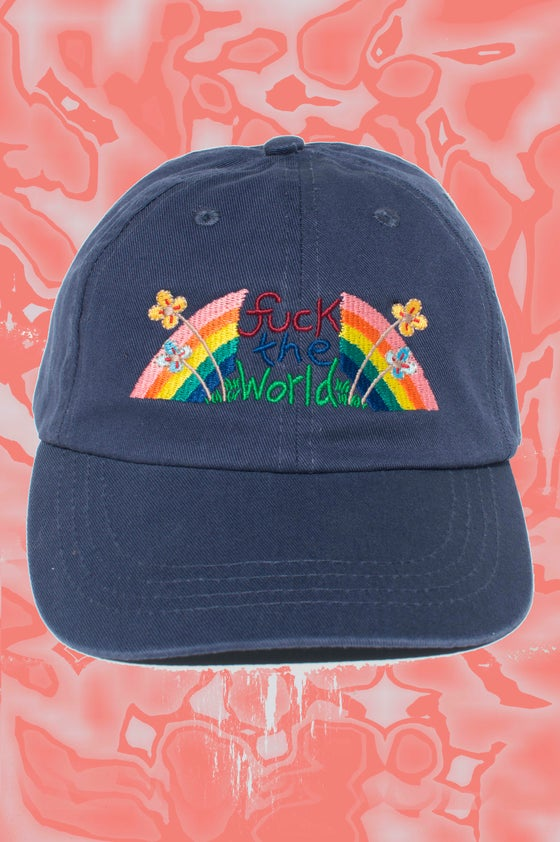 Image of FTW embroidered cap - NAVY BLUE