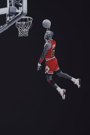Image of MJ 3x2ft canvas print