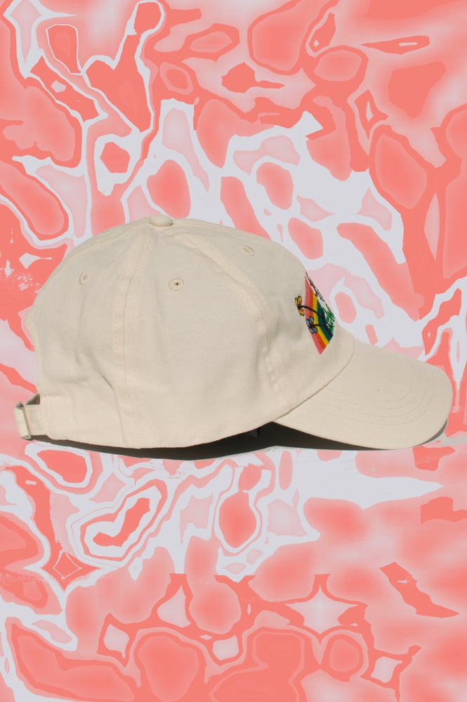 Image of FTW embroidered cap - CREAM / OFF  WHITE
