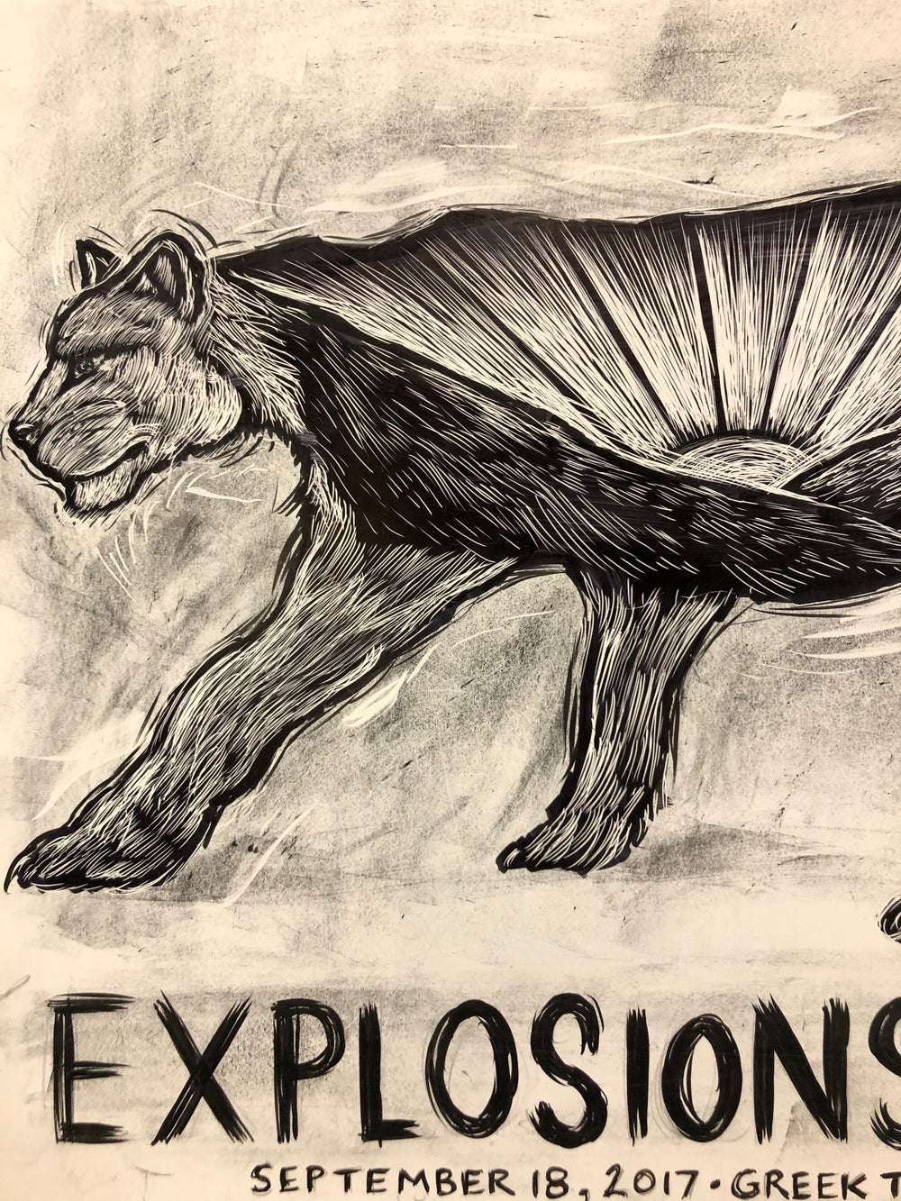 Explosions in The sky original drawing