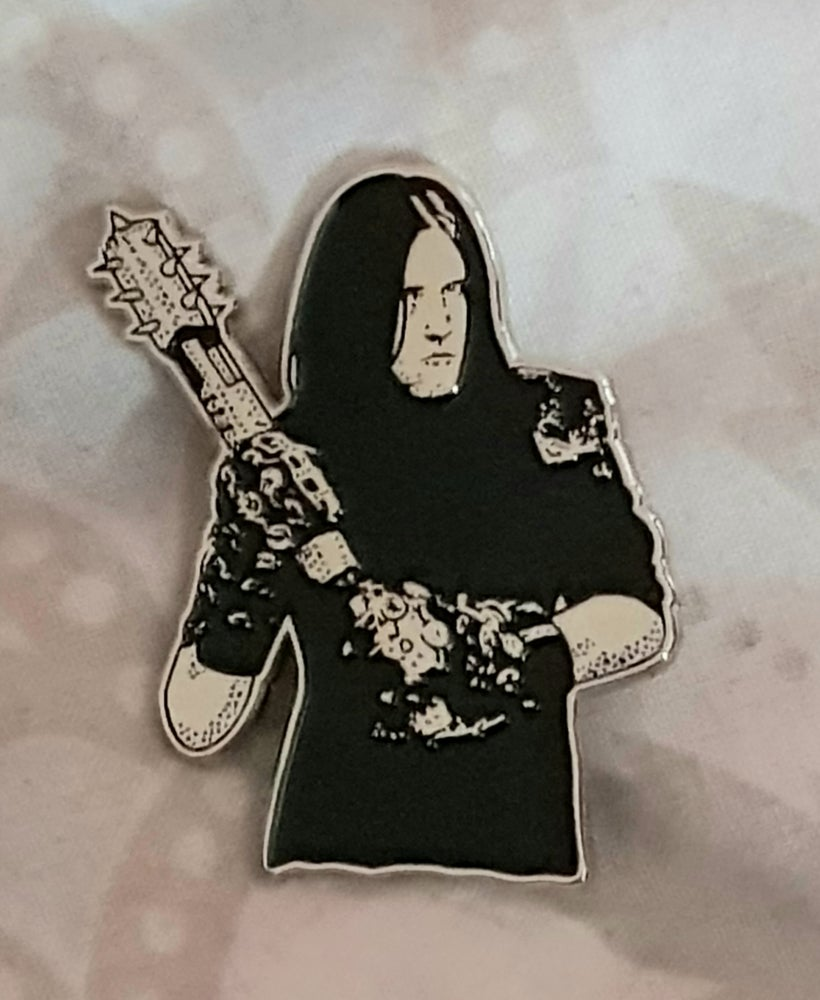 Image of War..Tribute to Varg Vikernes limited edition shaped enamel pin