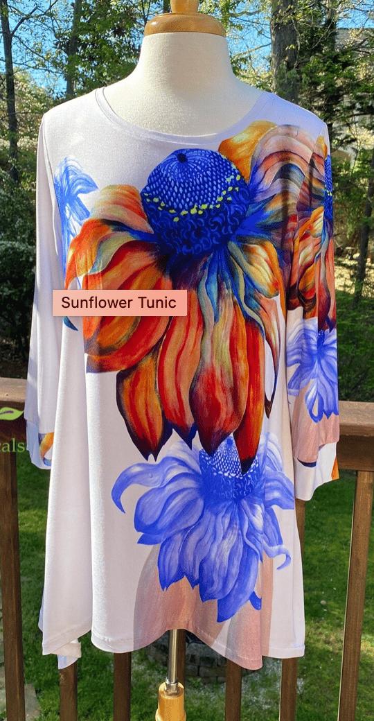 Image of Botanical Tunic Sunflowers