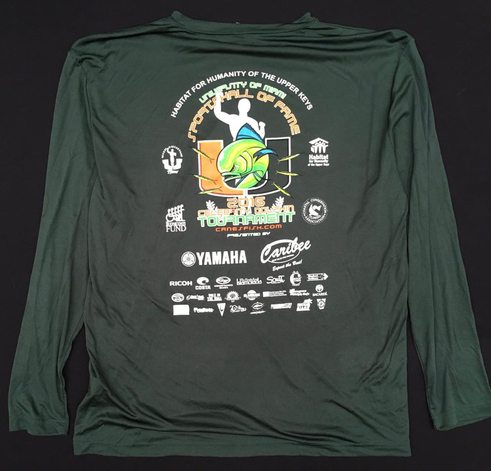 Image of 2016 U FISH  LONG SLEEVE GREEN SHIRT