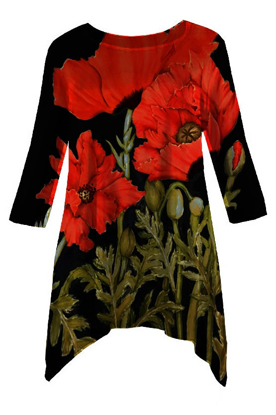 Image of Botanical Tunic Poppies