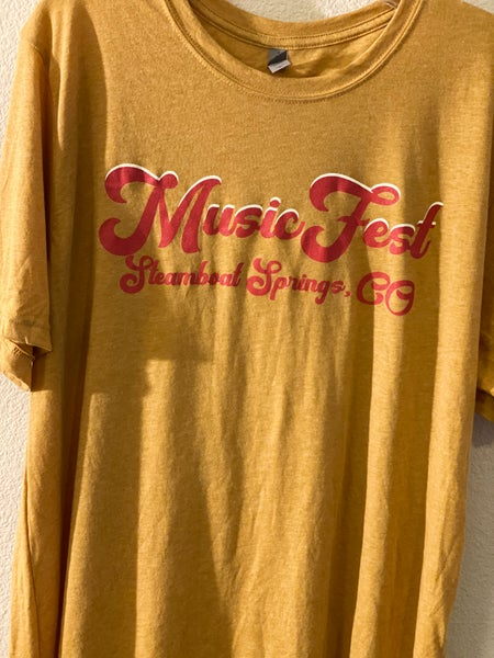 Image of Mustard Short Sleeve MusicFest Shirt