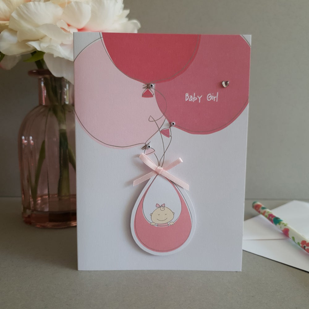 New Baby Balloons - Pink