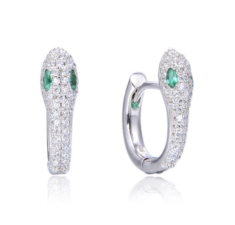 Image of Emerald Snake earrings