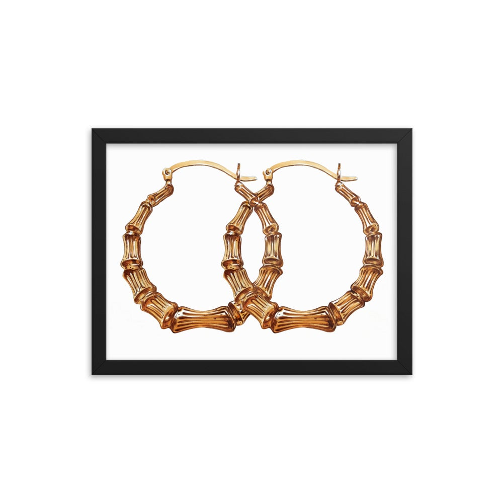 Image of Framed Bamboo Hoops