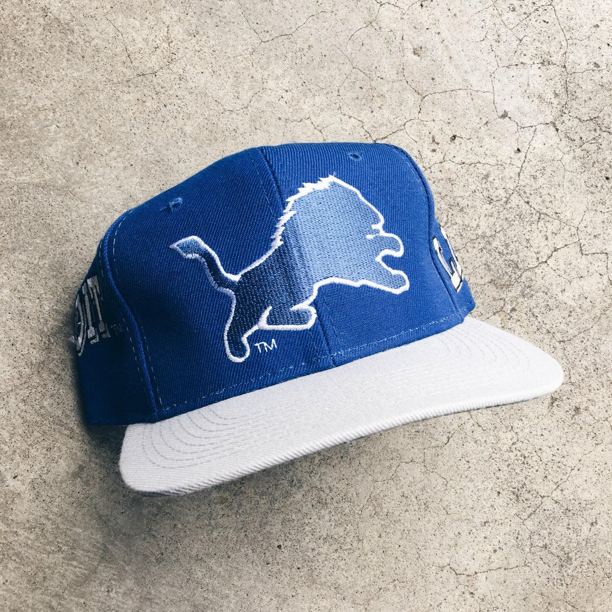 Image of Original 90's Pro Line Sports Specialties Lions Snapback Hat.