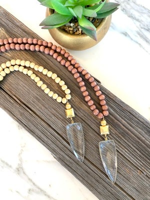 Summer Wood Necklace