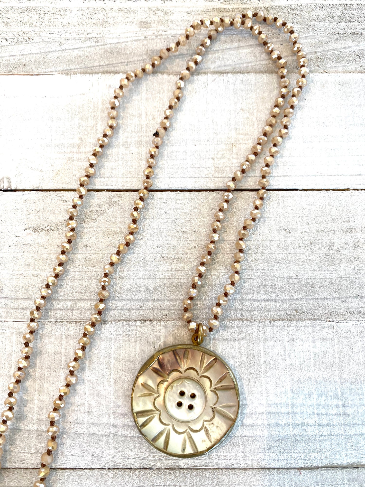 Large Vintage Button Necklace