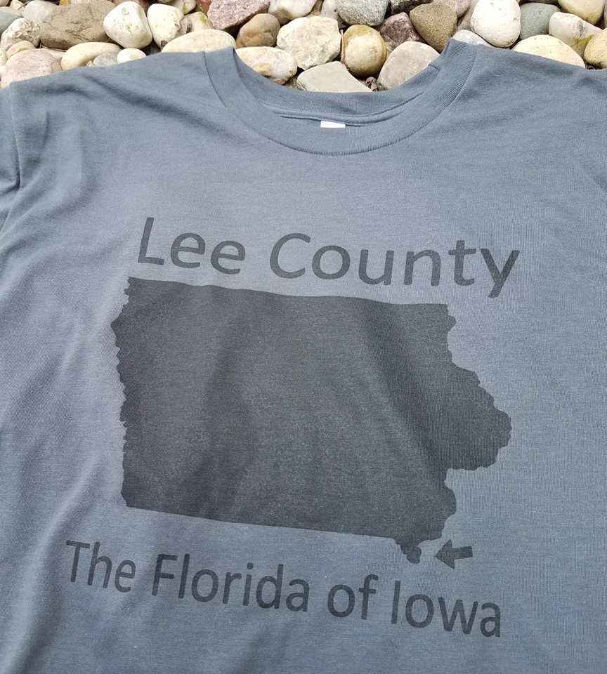 Image of Florida of Iowa T-shirt - ASPHALT