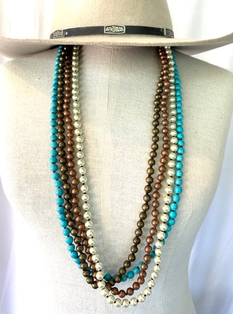 Hand Beaded Stone Necklaces