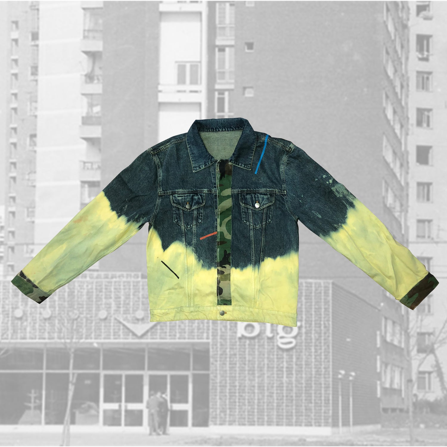 Image of Geometric Denim Jacket