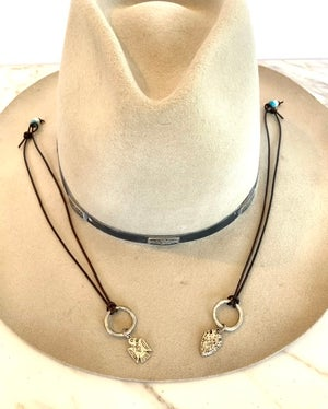 Leather Charm Necklaces