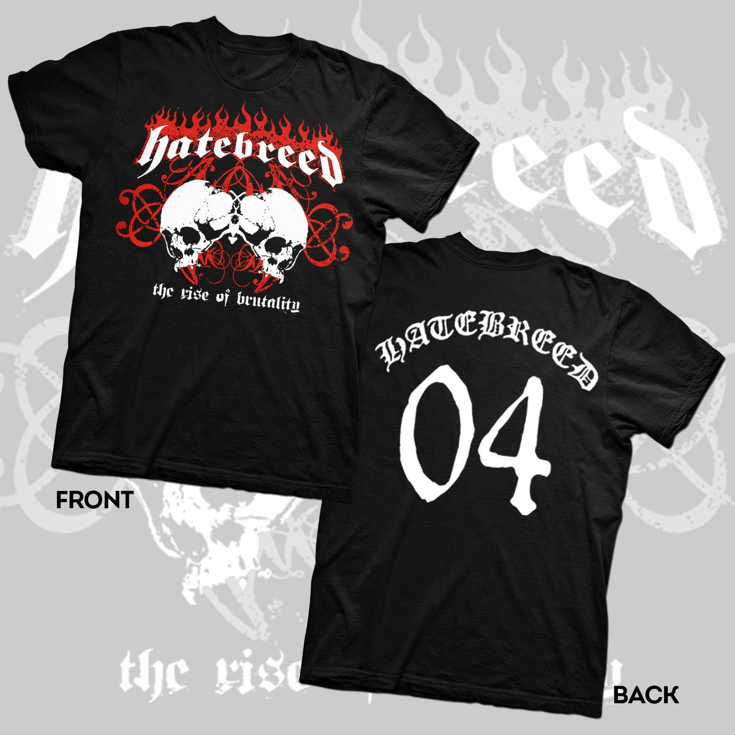 "Image of HATEBREED ""RISE OF BRUTALITY"" 2004 SHIRT"