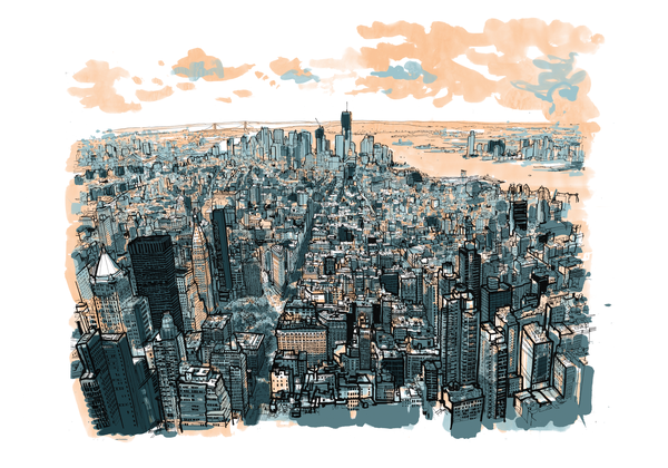 Image of empire state of pen (colour)
