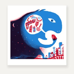 ARRIVA LA NOTTE high quality print, limited edition