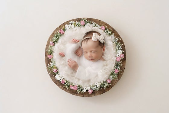 Image of FLORAL BOW HALO natural