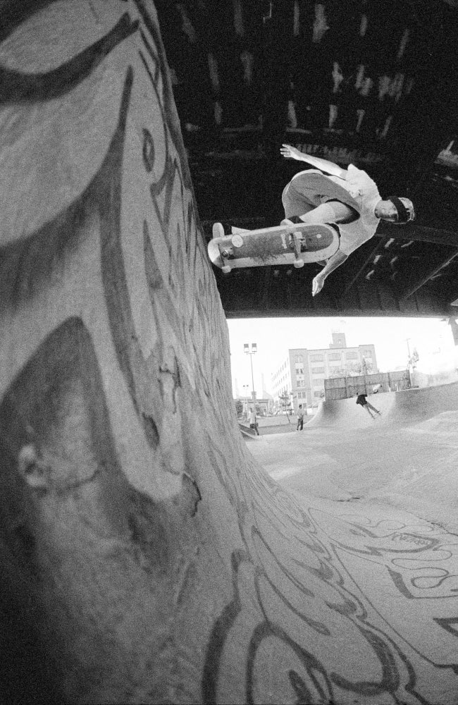 Julien Stranger, Back side tailslide, Burnside, 1993 by Tobin Yelland